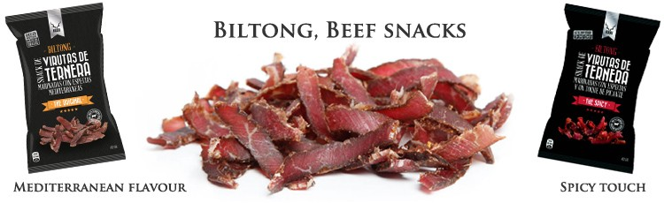 Kudu Biltong: Beef strips marinated with Mediterranean spices
