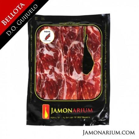 Comprar jamón bellota 100% puro ibérico D.O. Guijuelo cortado en lonchas online