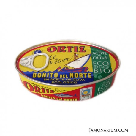 Bonito del norte Ortiz en aceite de oliva ecológico