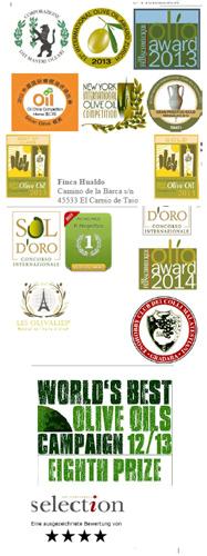 Premios Reserva de Familia Casas de Hualdo