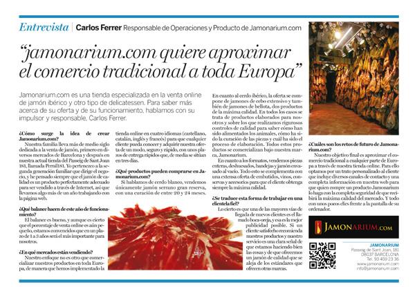 articulo de la vanguardia sobre jamonarium tienda jamones en internet online