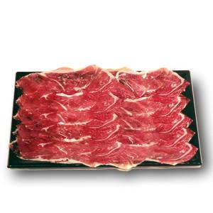 iberico bellota cebo ham tray sliced