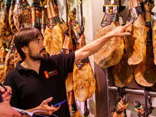 acquisita prosciutto iberico ghianda pata negra serrano Barcelona