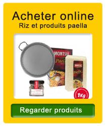 Riz et produits pour paella