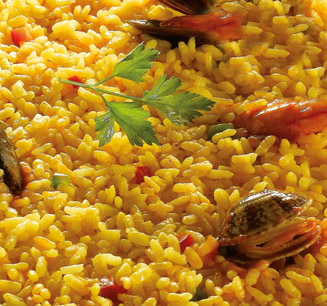 The Spanish paella, from Valencia
