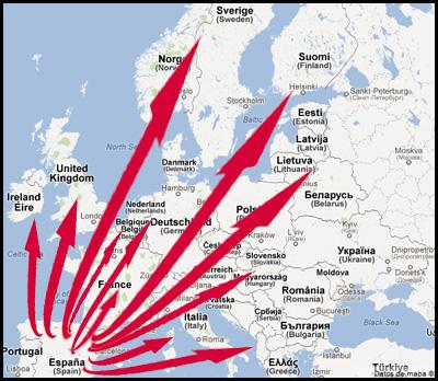Enviar comprar jamones en Polen online transporte